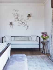 luxury bedroom with custom wall decor