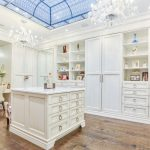 powder room makeovers - luxury changing room with makeup table