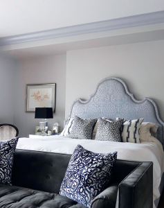 bedroom makeover with amazing crown moulding