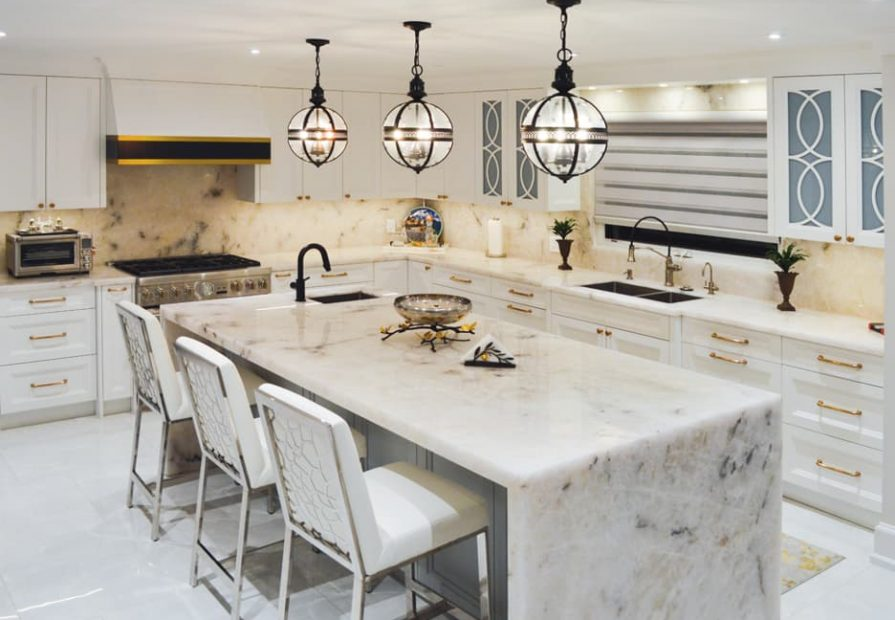 modern kitchen images with white cabinets and gold trim