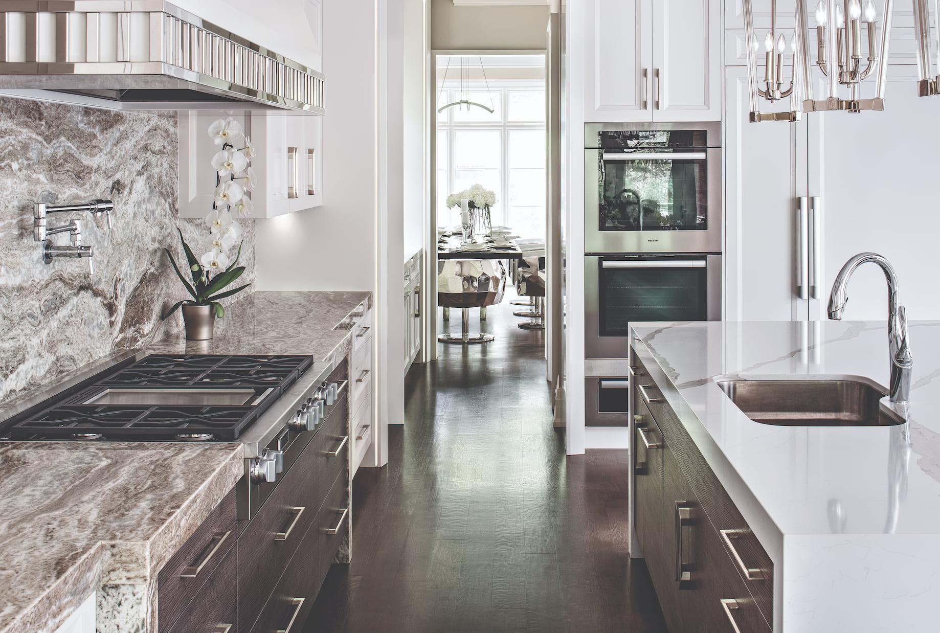beautiful kitchens - with build in appliance and marble counter top