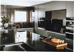modern kitchen images with build in appliance and custom wall decor