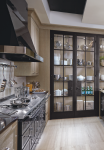 beautiful kitchen black and beige two ton painting