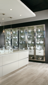 pictures of modern kitchens with custom cabinets with glass door